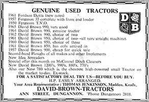 David Brown Advert
