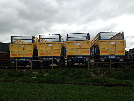 delivery of Kane Trailers