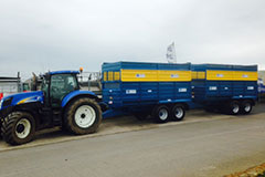 taking delivery of 2 x Kane 12 Ton Silage Trailers.